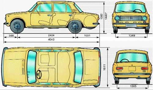 автомобиля ВАЗ-2101